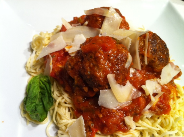 Angel Hair Pasta with Piedmontese Meatballs