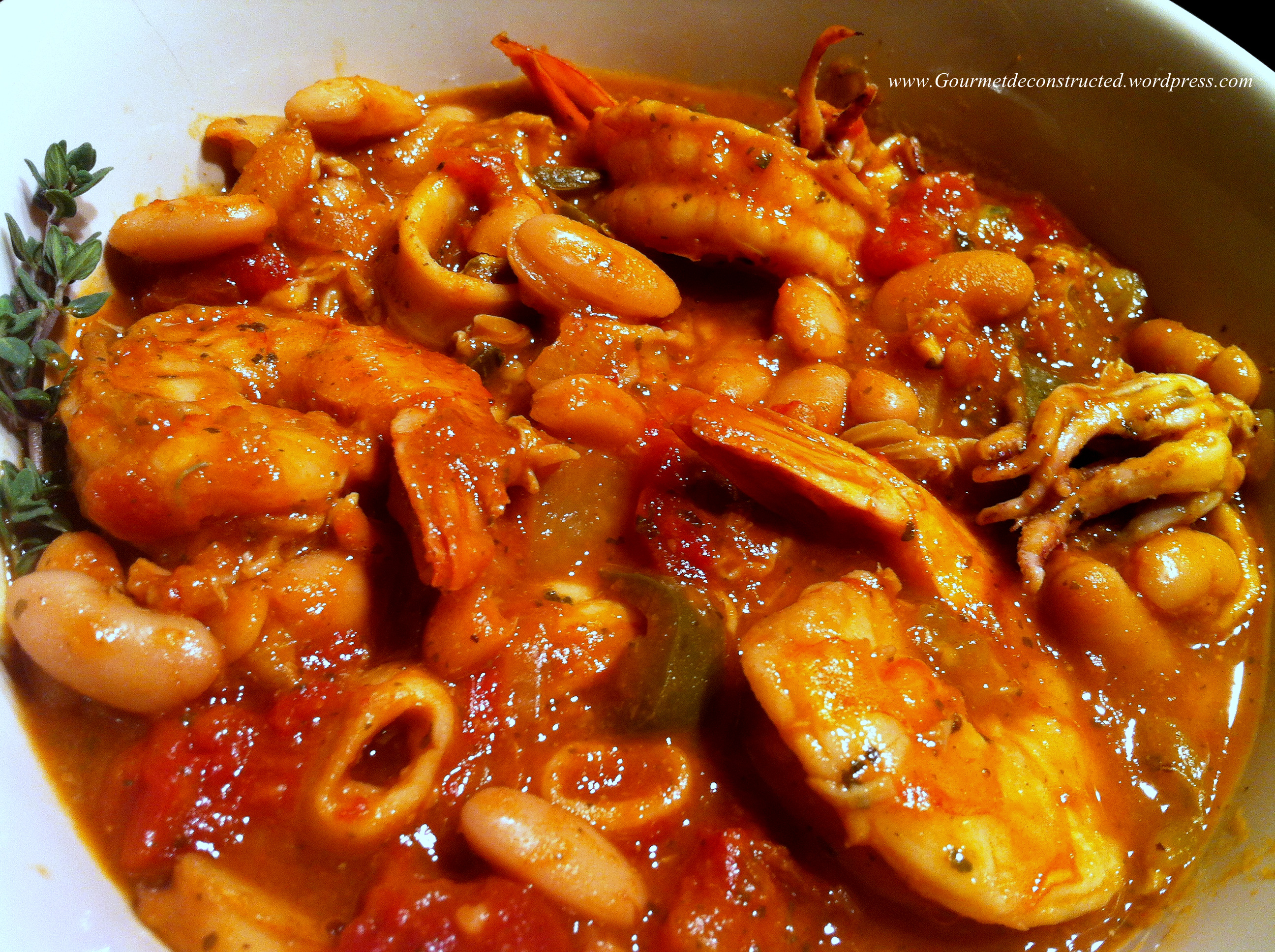Seafood, White bean, and Vegetable Chili