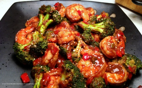 Shrimp & Broccoli in Black Bean sauce