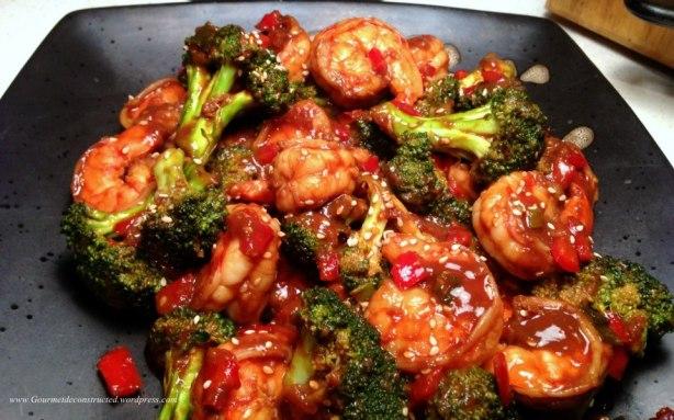 Shrimp & Broccoli in Black Bean sauce