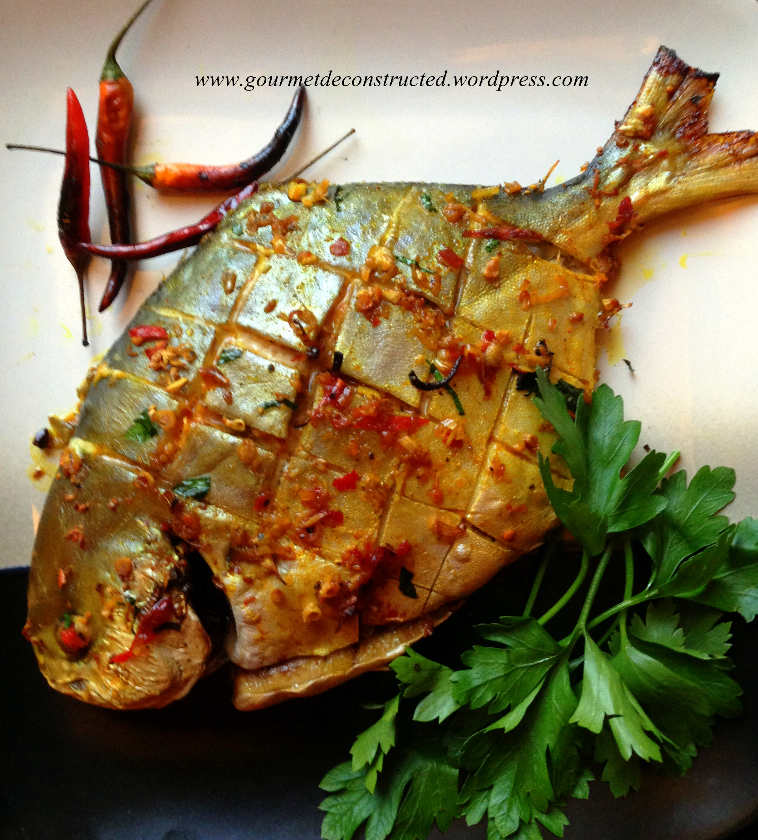 Vietnamese style roasted pompano gourmet de constructed for Is fish considered meat