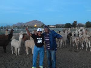 Anshu Pathak and myself at the farm