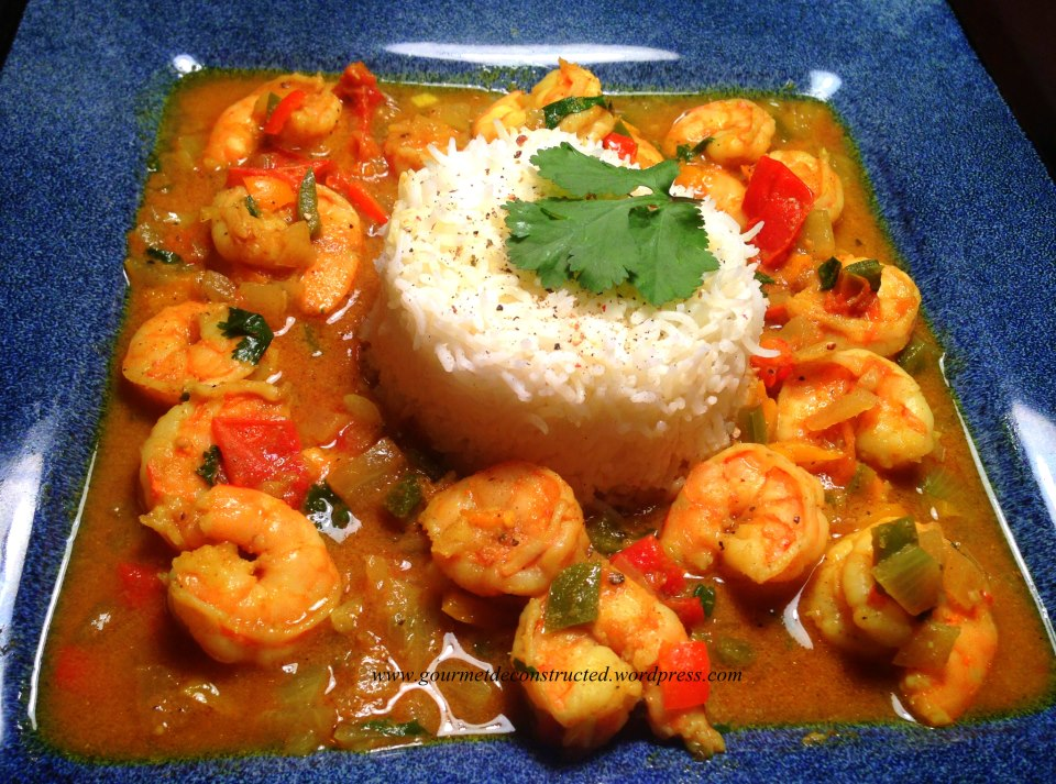 Jamaican-style curry shrimp