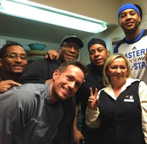 Chef team with Carmelo Anthony 2015 NBA All-Star Game