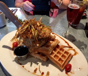 Sage Fried Chicken and Waffles at Hash House A Go Go