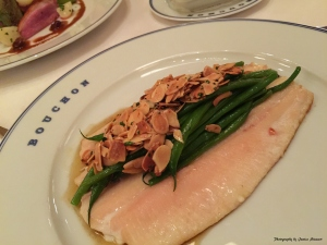 Sautéed Idaho rainbow trout, haricots verts, toasted almonds & beurre noisette