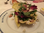Watercress-endive salad, Roquefort  & walnuts with walnut vinaigrette