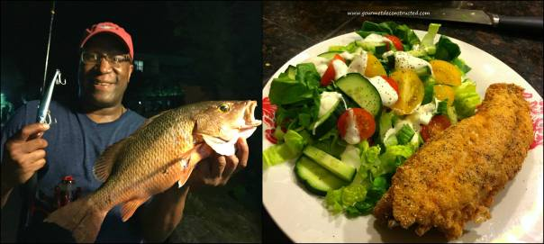 St. Thomas night fishing; Deep fried Mangrove Snapper